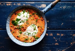 Spanish Style Eggs with Couscous